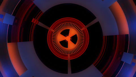 nuclear circle core Stock Video Footage