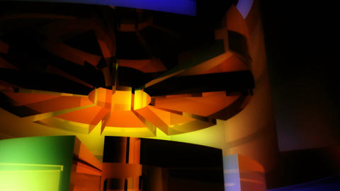 spinning color gears Stock Video Footage