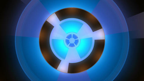 blue power generator Stock Video Footage