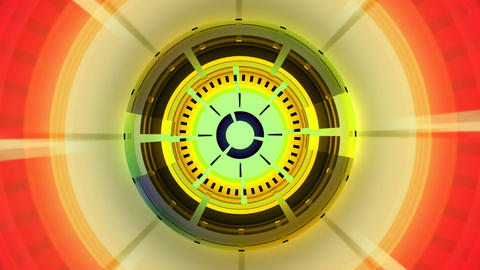 colorful classic compass Animation