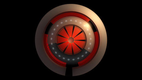 glowing reactor orbits with alpha Animation