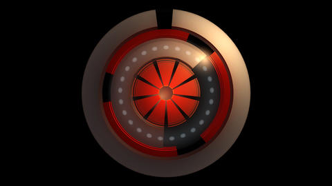 glowing reactor orbits with alpha Stock Video Footage