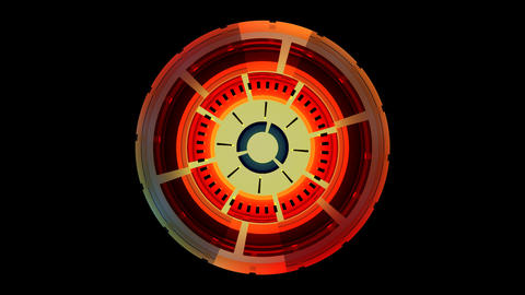 colorful spinning compass with alpha Stock Video Footage