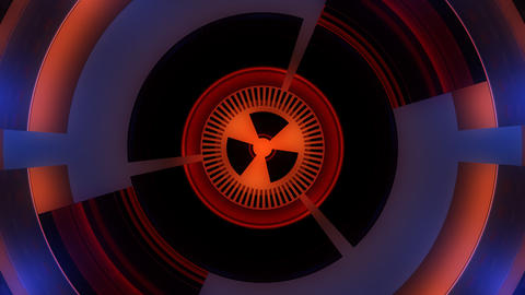 nuclear circle core with alpha Stock Video Footage