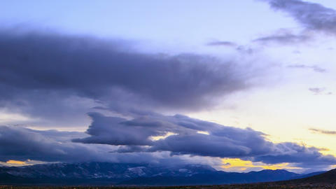 Dawn over the mountains. Time Lapse Stock Video Footage