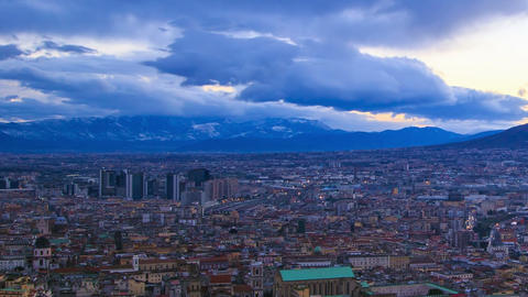 Dawn over Naples. Time Lapse Stock Video Footage