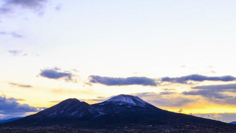 Vesuvius at sunrise. Time Lapse Stock Video Footage