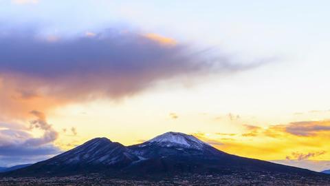 Vesuvius at sunrise. Time Lapse Footage