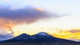 Vesuvius at sunrise. Time Lapse Stock Video Footage