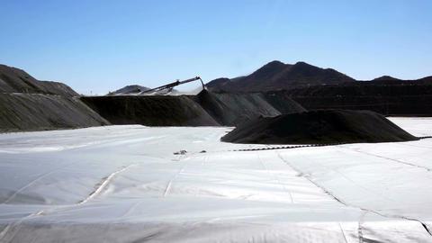 Mining Heap Leach Pad Footage