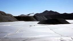 Mining Heap Leach Pad Stock Video Footage