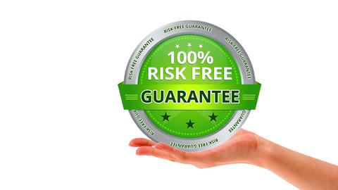 100 percent risk free guarantee Stock Video Footage