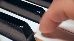 Piano keys macro Footage