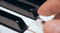 Piano keys macro Stock Video Footage
