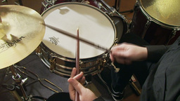 Playing drums 3 Stock Video Footage