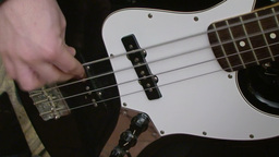 Playing electric guitar 2 Stock Video Footage