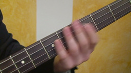Playing electric guitar 4 Stock Video Footage