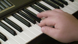Playing piano keyboard 1 Footage