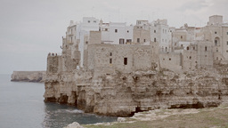 Polignano Medieval City On A Cliff By The Sea 1 stock footage
