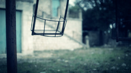 Scary swing horror themed close up Stock Video Footage