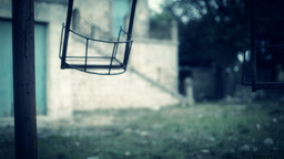 Scary Swing Horror Themed Close Up stock footage