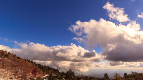 Clouds over the valley. Time Lapse. 4K Stock Video Footage