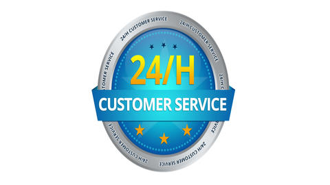 24 hours Customer Service Sign Stock Video Footage