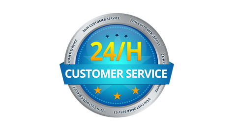 24 hours Customer Service Sign Animation