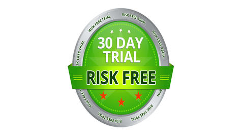 30 Day Trial Risk Free Sign Stock Video Footage
