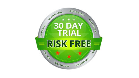 30 Day Trial Risk Free Sign stock footage