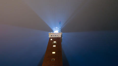 Lighthouse bad weather tilt close time lapse 11260 Stock Video Footage