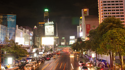 Time Lapse of Traffic at Victory Monument in Bangk Stock Video Footage