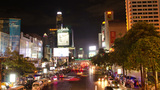 Time Lapse of Traffic at Victory Monument in Bangk Footage