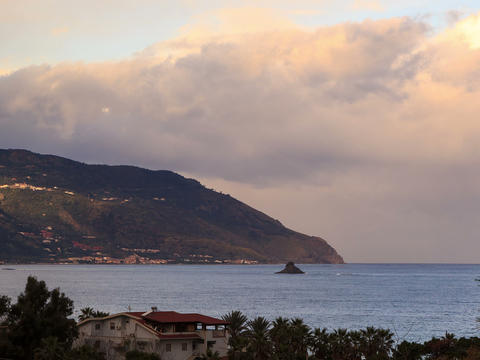 Cape. Coast of Sicily. Italy, Time Lapse. 4x3 Footage