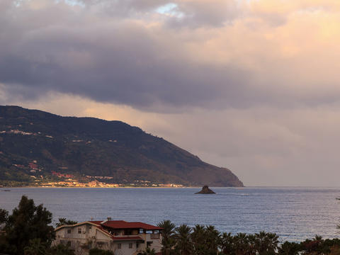 Cape. Coast of Sicily. Italy, Time Lapse. 4x3 Stock Video Footage