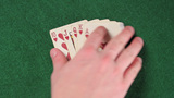 Cards - Royal Flush stock footage