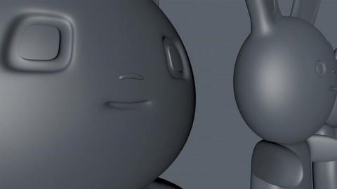 Japanese Style Kawaii Figures 3D Model