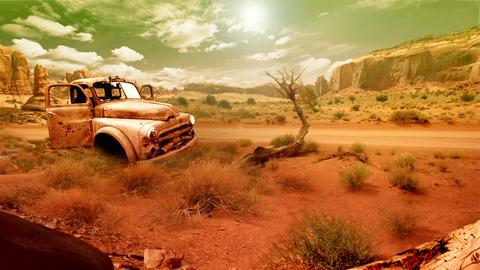 Desert Landscape 1 Stock Video Footage