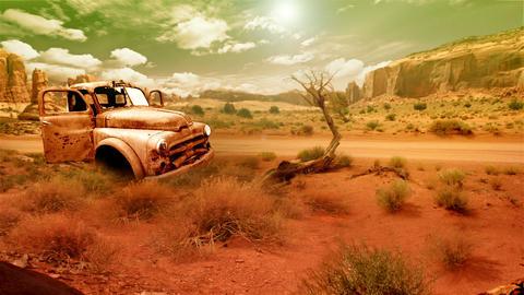 Desert Landscape 1 stock footage