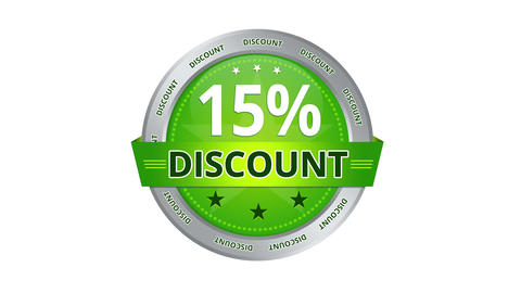 15 Percent Discount stock footage