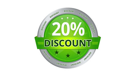 20 Percent Discount stock footage