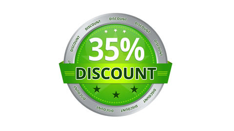 35 Percent Discount stock footage