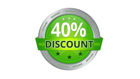 40 Percent Discount stock footage