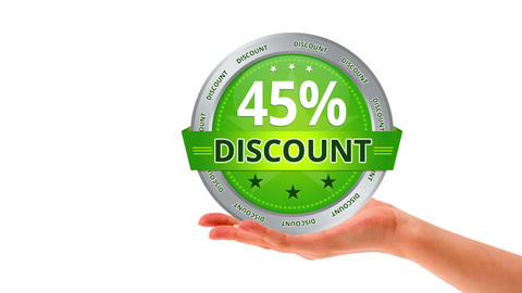 45 Percent Discount stock footage