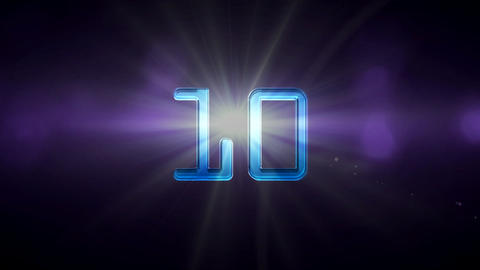 10to 1 countdown flare new year Stock Video Footage