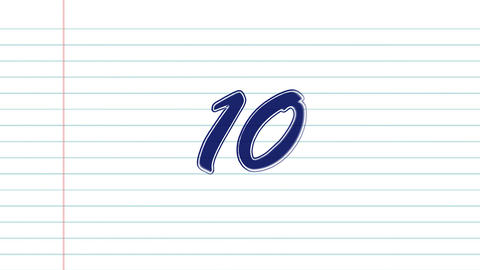 10 to 1 countdown page Stock Video Footage