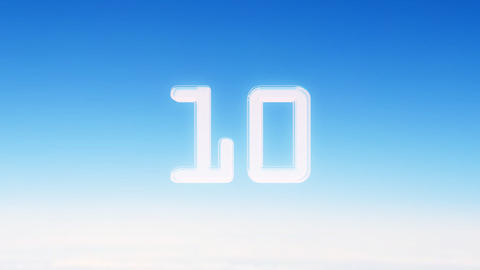 10to 1 countdown sky Stock Video Footage