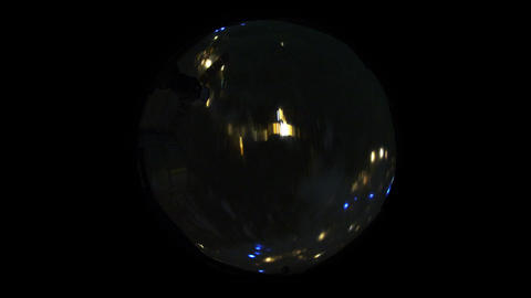 4 K Over the Earth by Night Fisheye Footage
