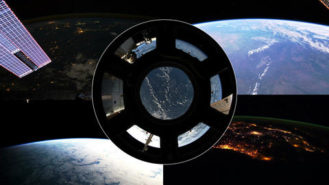4 K Over the Earth Montage Stock Video Footage