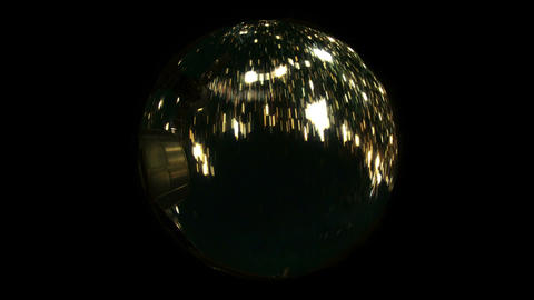 Over the Earth by Night Fisheye Stock Video Footage
